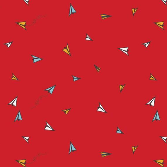 Art Gallery Studio SISU  Paper Plane Wishes in Knit  BTY by the yard