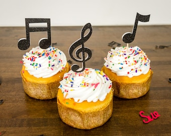 Items similar to Music DJ Cupcake Edible Fondant Toppers ec680fcd35