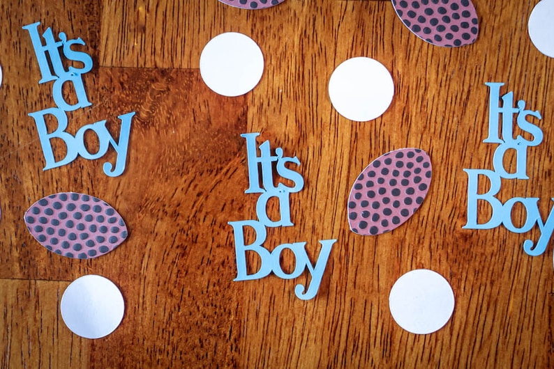 591d940dbb0 It's A Boy Football Baby Shower Confetti