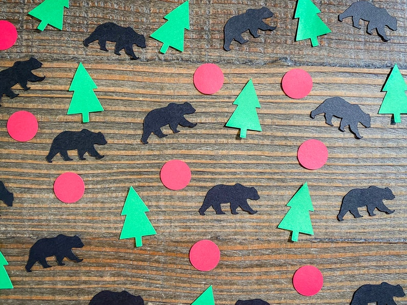 Lumberjack Camping Party Confetti