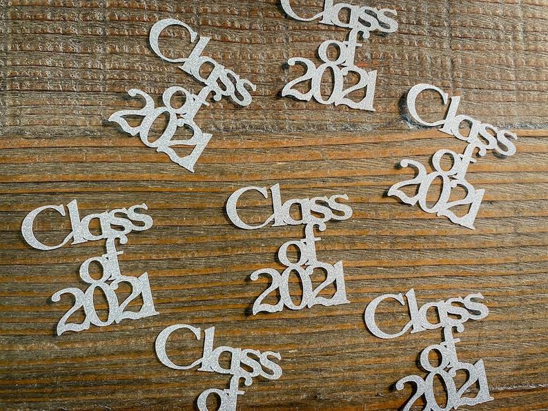 Silver Class of 2021 Graduation Confetti