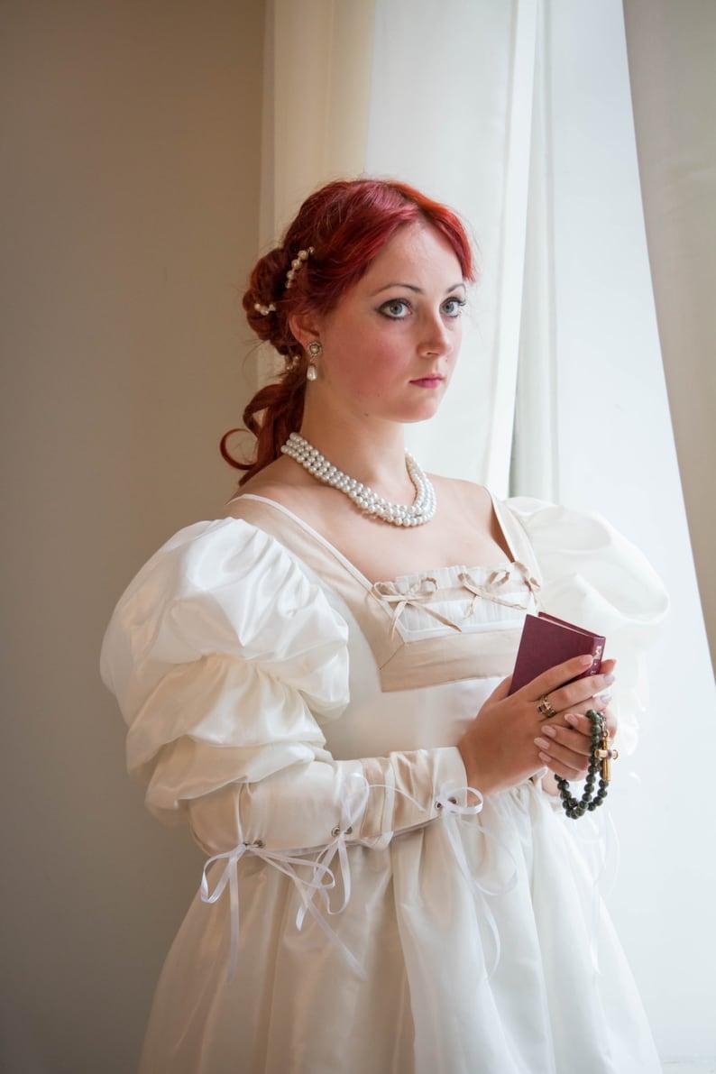 Renaissance Hochzeit Kleid weiß & Gold Renaissance ...