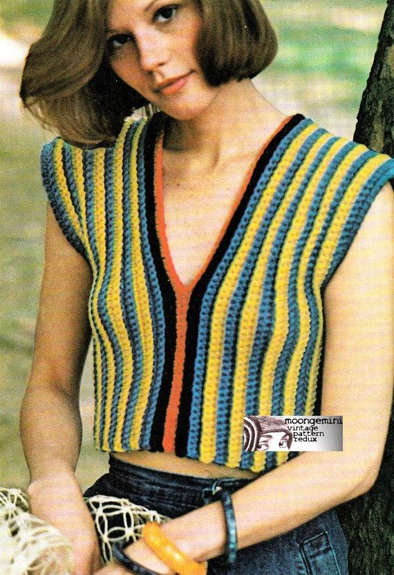 d41fa28fdd283 Crochet Vest Little Summer Top Easy Beginner Pattern PDF | Etsy