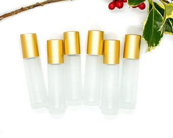 10ml FROSTED Clear Glass Roller Bottle
