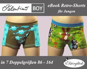 eBook VALENTINO BOY Schnittmuster Unterhose Jungen