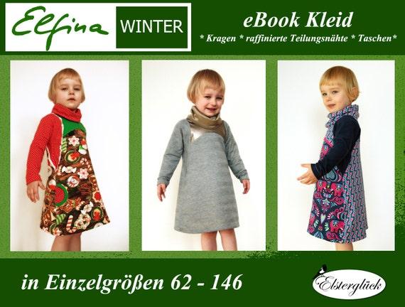 ebook ELFINA WINTER Schnittmuster Mädchen Kleid | Etsy