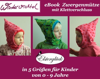 eBook WINTERWICHTEL pointed hat sewing pattern kid