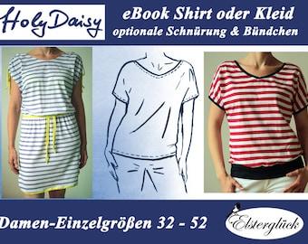 ebook HOLYDAISY sewing pattern summer shirt dress for women