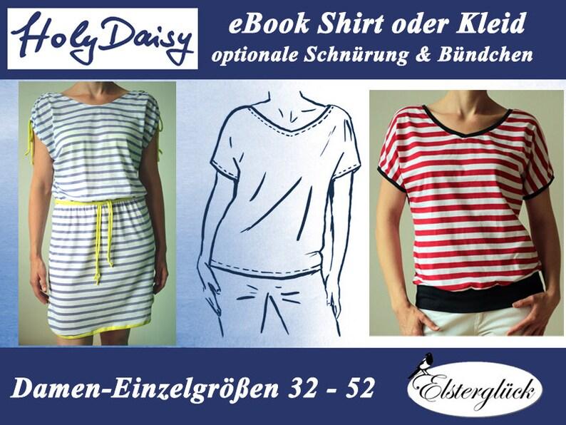 ebook HOLYDAISY sewing pattern summer shirt dress for women image 0