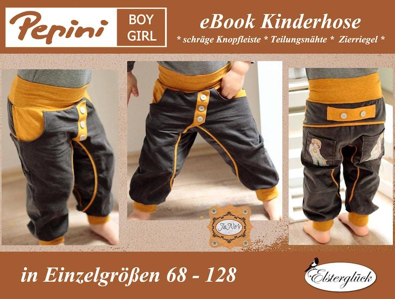 ebook PEPINI Schnittmuster Kinderhose Pumphose image 0
