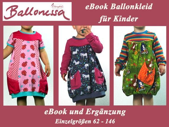 eBook BALLONESSA Schnittmuster Mädchen Ballonkleid | Etsy