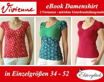 ebook VIVIENNE Schnittmuster feminines Damenshirt