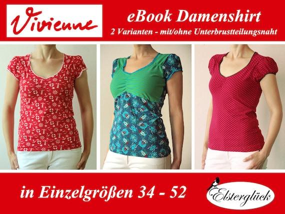 ebook VIVIENNE Schnittmuster feminines Damenshirt | Etsy
