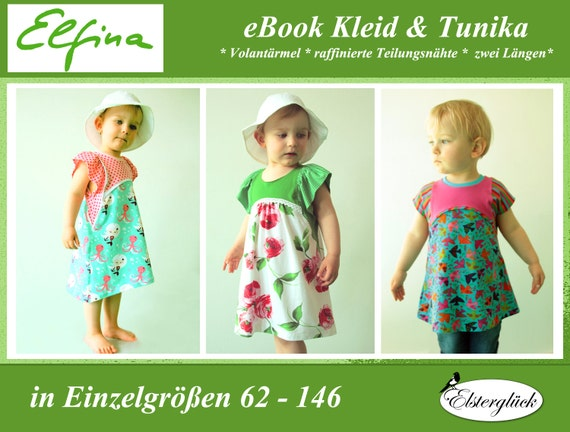 ebook ELFINA Schnittmuster Mädchen Sommerkleid Tunika Kleid | Etsy