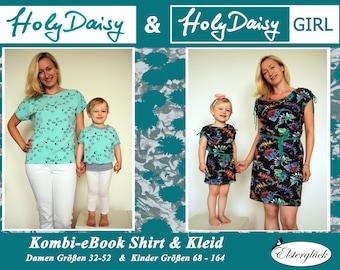 Kombi-eBook HolyDaisy Mutter Tochter Kleid + Shirt