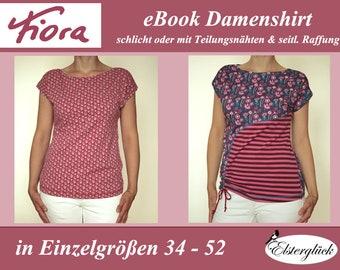 eBook FIORA Schnittmuster Nähanleitung Damenshirt Top