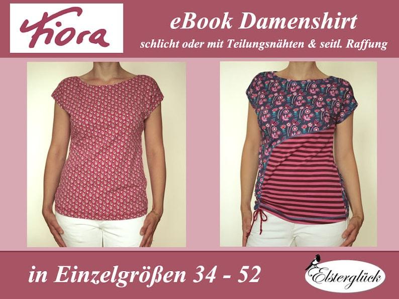 eBook FIORA Schnittmuster Nähanleitung Damenshirt Top image 0
