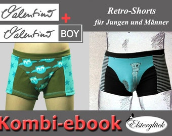 ebook package VALENTINO sewing pattern father and son boxer briefs