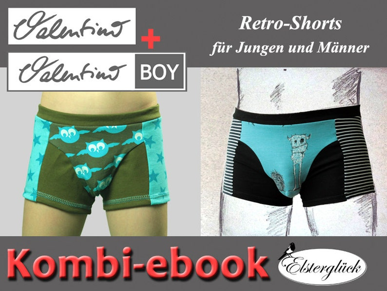 ebook package VALENTINO sewing pattern father and son boxer image 0