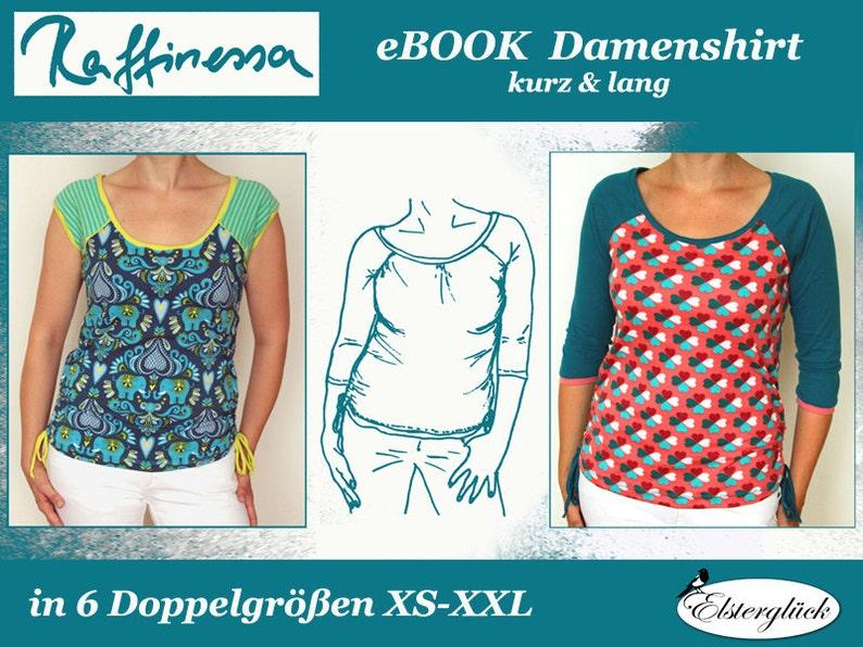 ebook RAFFINESSA sewing pattern Raglan Shirt for Women image 0