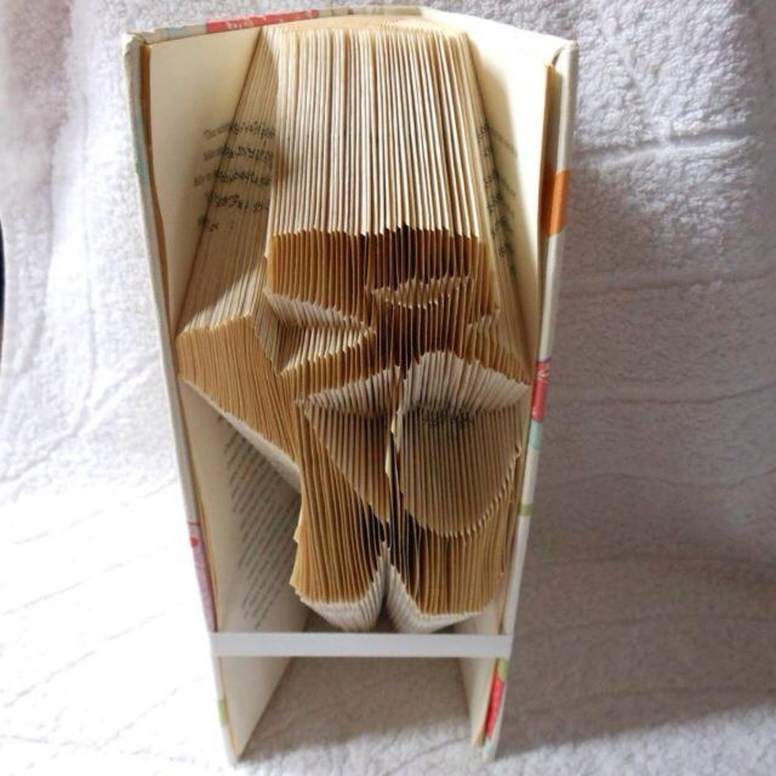book folding art pattern for ballet shoes