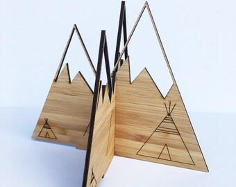 3D Bamboo Mountains