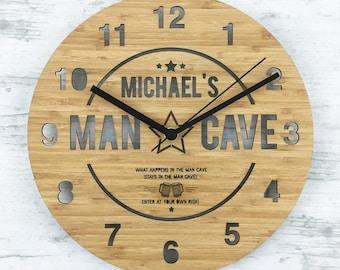 The Man Cave Bamboo Clock