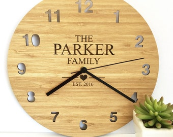 The Family Bamboo Clock