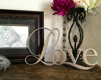 The Word Love Love Sign Love Wall Art Love Word Aluminum Word Love Love Decor Metal Wall Art Wedding Decor Word Love Word Art Love