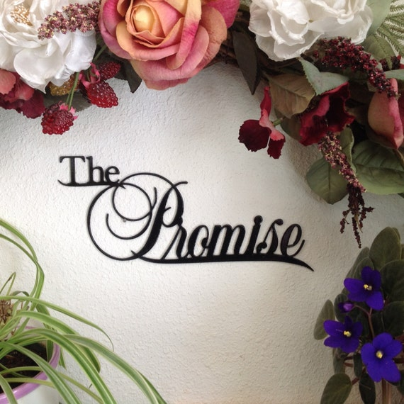 the promise wall decor, gift for wedding, wall hanging for her  home decor engagement gift, wedding decor, metal wall art gift, the promise