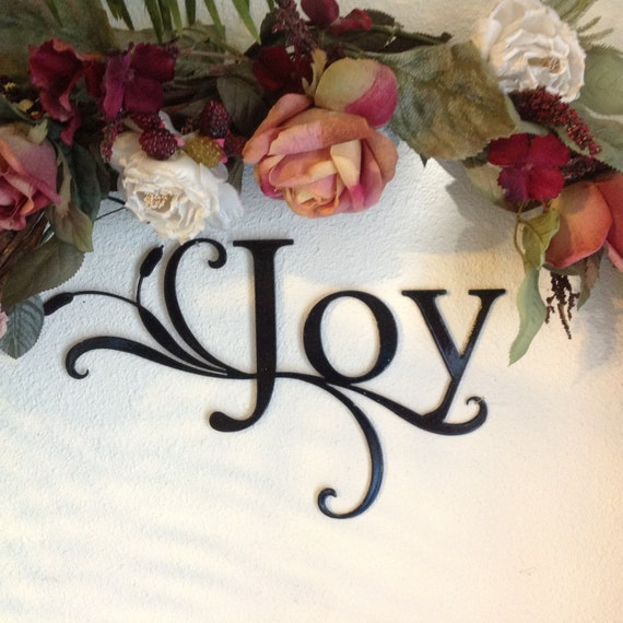 joy metal art word sign, joy sign to hang on wall, wall decor, joy wall hanging, inspirational wall art, lovely word on wall to give joy