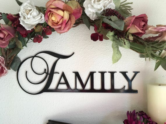 Family word metal wall art, Family metal sign, best seller, family wall art, metal wall decor, family word wall art
