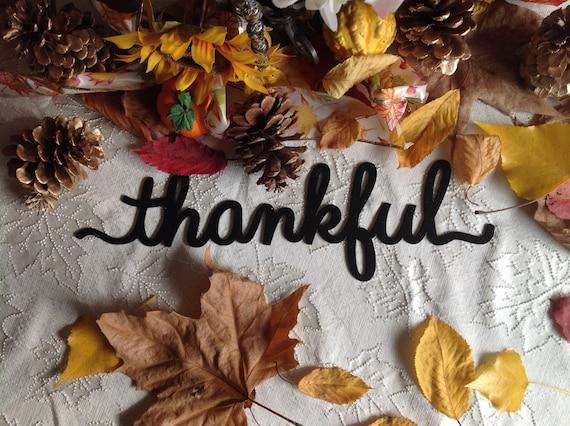 thankful wall decor, thankful sign, mantel decor, thanksgiving decor, fall decor, wall decor, home decor, farmhouse decor, thankful wall art