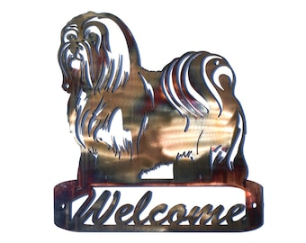 Lhasa Apso Welcome Sign - CAN BE CUSTOMIZED!