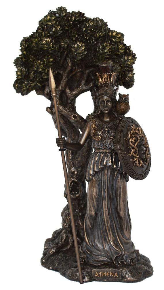 Goddess Athena Alabaster sculpture Symbol of Wisdom Strength Strategy