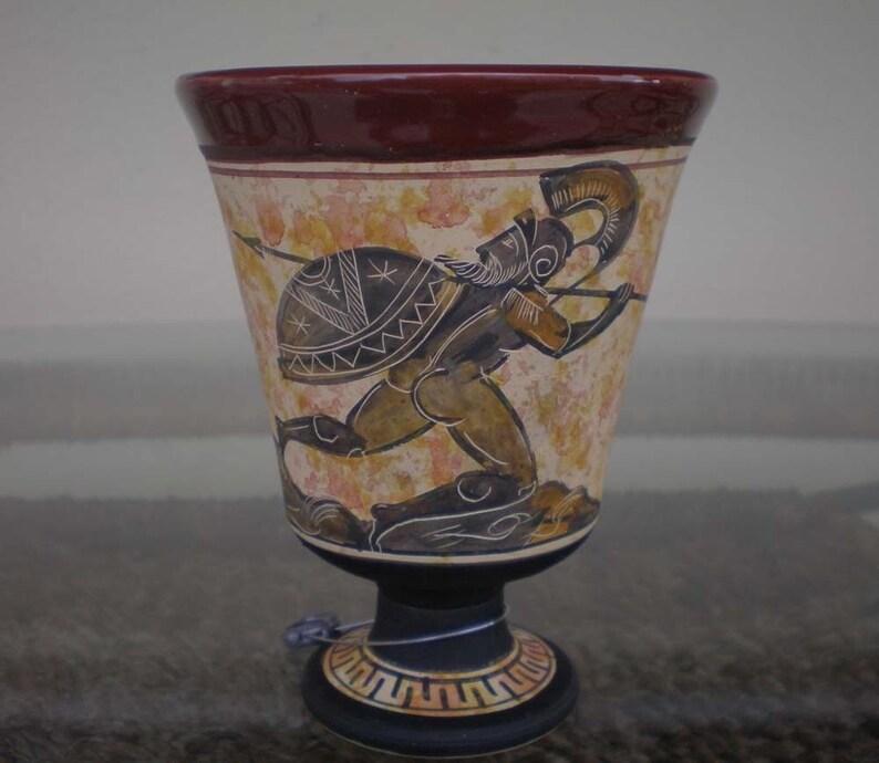 b6e0442675fc Pythagoras Fiera Cup-Pitagora vetro re Leonidas mano dipinta