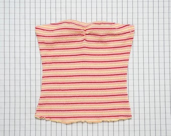 90's Crop Top, Candy Stripe Tube Top, Beach Top, Tropical Top, Island Babe, cyber angel, Aesthetic, Tumblr, Large