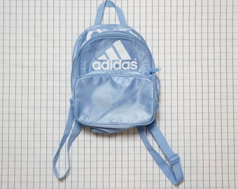 90 s Adidas Backpack, Adidas Mini Backpack, Small Baby Blue Backpack, Cyber  Angel, Soft Grunge, Cyber, Vapor Wave,Tumblr 3068adb27b