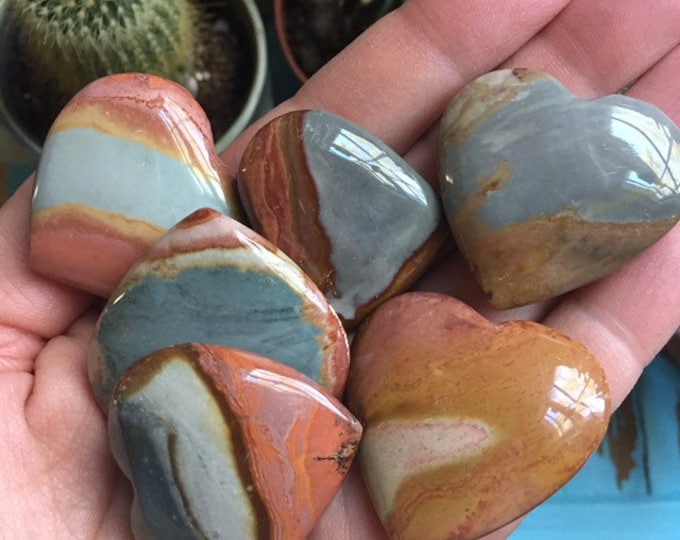 Small Polychrome Jasper Heart | Reiki Love Infused | Spiritual Junkies | Healing Crystal + Gemstone | Altar