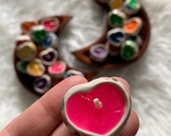 Assorted Grab Bag | Teeny Tiny Thai Heart Candle | Incense | Tea Light Candle | Reiki Infused | Spiritual Junkies | Altar
