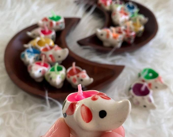 Assorted Grab Bag | Teeny Tiny Thai Baby Elephant Candle | Incense | Tea Light Candle | Reiki Infused | Spiritual Junkies | Altar