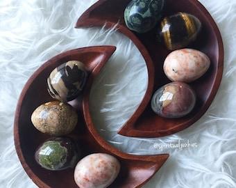 Gemstone Egg   Reiki Love Infused   Spiritual Junkies   Healing Crystal   Altar   Jasper, Tigers Eye + Sunstone
