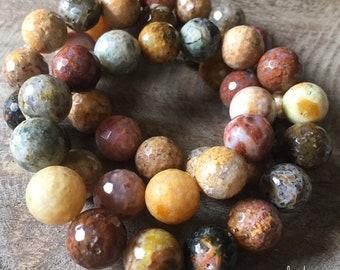 Multicolored Agate   Super Chunky 12 mm   Spiritual Junkies   Yoga + Meditation   Stackable Mala Bracelet
