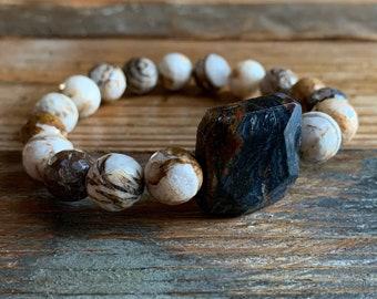 Rare Pietersite Mala Hand knotted *108 meditation Mala beads