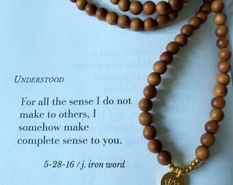 Sandalwood + Thai Lotus   Gold Vermeil or Sterling Silver   108 Bead Mala   Mini 6 mm   Spiritual Junkies   Yoga + Meditation