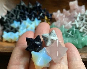 Assorted Grab Bag | Set of 3 Gemstone Merkaba | Mini Merkaba Star | Reiki Love Infused | Spiritual Junkies | Healing Crystal | 3 Gemstones