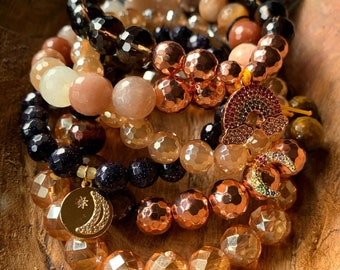 Summer Vibes Stack of 6 Bracelets   Spiritual Junkies   Mala Beads
