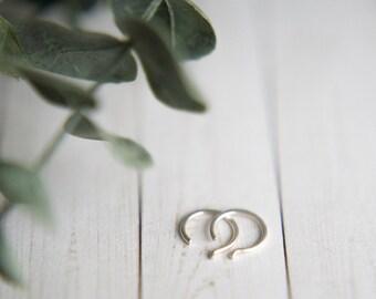 small sterling silver hammered huggie hoop earrings // handmade // martha's vineyard to california