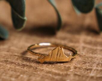 14kt gold vermeil tiny martha's vineyard ring // pick your size // handmade // martha's vineyard to california