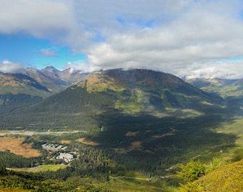 Alyeska Ski Resort, Large Wall Art, Panoramic Prints, Alaska Mountains, Fine Art Photography, Nature, Alaska Landscape, Top of the World